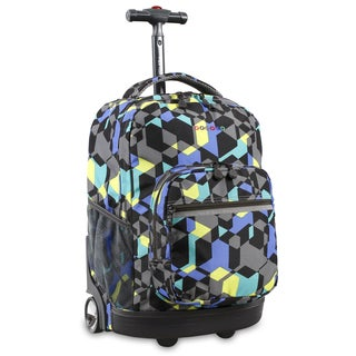 J World Sunrise Cubes 18-inch Rolling Backpack