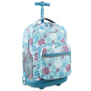 J World Sunrise Dandelion 18-inch Rolling Backpack
