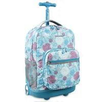 J World Sunrise Dandelion 18-inch Rolling Backpack