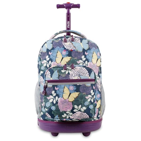J World Sunrise Secret Garden 18-inch Rolling Backpack