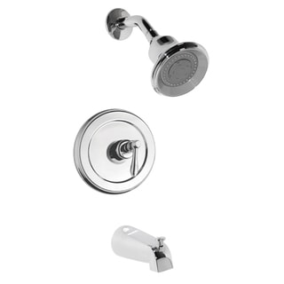 Fontaine Chrome Tub and Shower Faucet with 3-pattern Shower Head and Valve