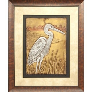 Cast Paper 'Patient Wader l' 38x46 Indoor/ Outdoor Framed Art