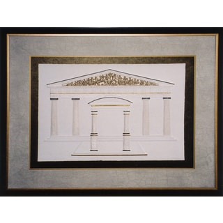 Cast Paper 'Parthenon' 36x44 Indoor/ Outdoor Framed Art