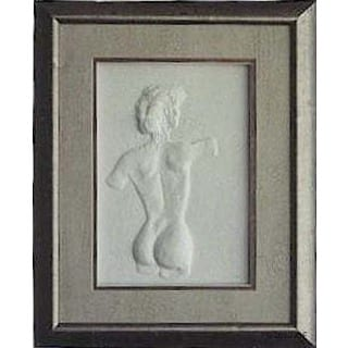 Cast Paper 'Modern Nude I' 13x16 Indoor/ Outdoor Framed Art