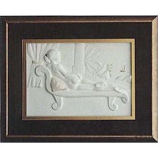 Cast Paper 'Ocean Lady' 18x22 Indoor/ Outdoor Framed Art