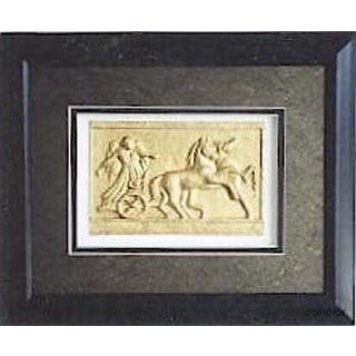 Cast Paper 'Grecian Relief I' 10x12 Indoor/ Outdoor Framed Art