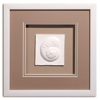 Cast Paper 'Sm. Nautilus' 12x12 Indoor/ Outdoor Framed Art
