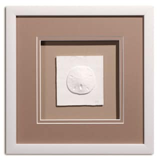 Cast Paper 'Sm. Sanddollar' 12x12 Indoor/ Outdoor Framed Art