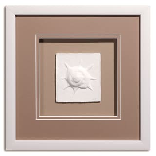 Cast Paper 'Sm. Pinion' 12x12 Indoor/ Outdoor Framed Art