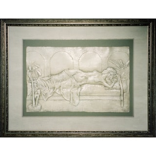 Cast Paper 'Sweet Dreams' 36x44 Indoor/ Outdoor Framed Art