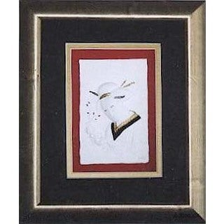 Cast Paper 'Ikebana' 10x12 Indoor/ Outdoor Framed Art