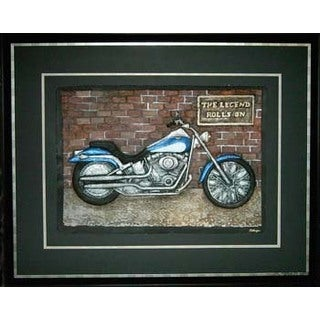 Cast Paper 'The Legend Rolls On' 36x44 Indoor/ Outdoor Framed Art