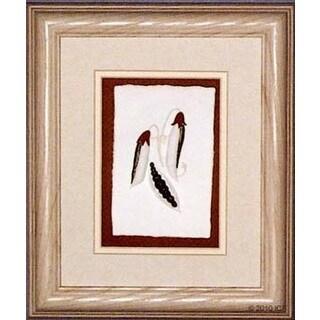 Cast Paper 'Peas' 10x12 Indoor/ Outdoor Framed Art