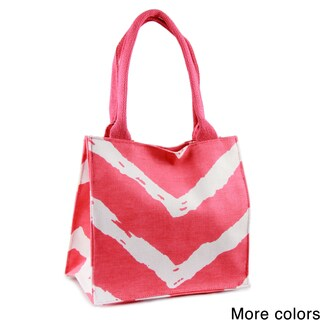 Saachi Indian Summer Tiny Tote Canvas Chevron Bag (India)