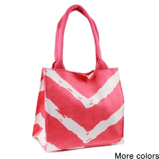 Handmade Saachi Indian Summer Tiny Tote Canvas Chevron Bag (India)