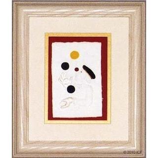 Cast Paper 'Juggling Clown' 10x12 Indoor/ Outdoor Framed Art