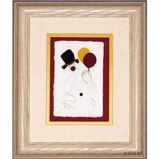 Cast Paper 'Balloon Clown' 10x12 Indoor/ Outdoor Framed Art