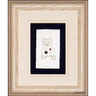 Cast Paper 'Boy Bear' 10x12 Indoor/ Outdoor Framed Art