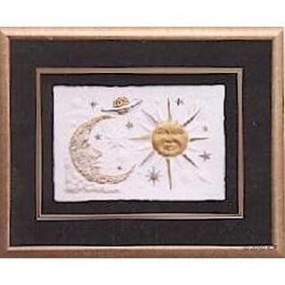 Cast Paper 'Celestial Skies' 18x20 Indoor/ Outdoor Framed Art
