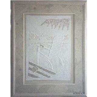 Cast Paper 'Wish You Were Here II' 36x44 Indoor/ Outdoor Framed Art