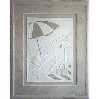 Cast Paper 'Wish You Were Here I' 36x44 Indoor/ Outdoor Framed Art