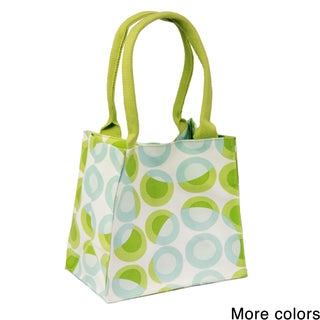 Handmade Saachi Indian Summer Tiny Tote Canvas Circle Bag (India)