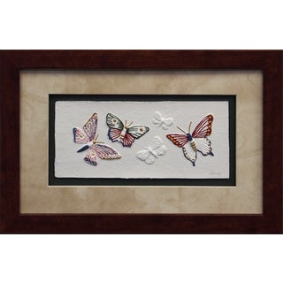 Cast Paper 'Butterfly II' 12x18 Indoor/ Outdoor Framed Art