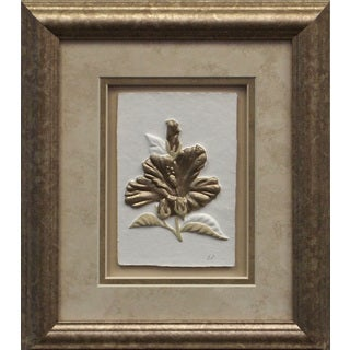 Cast Paper 'Sm. Hibiscus I' 10x12 Indoor/ Outdoor Framed Art