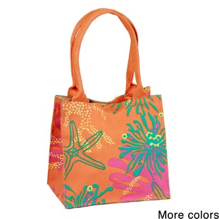 Handmade Saachi Indian Summer Tiny Tote Canvas Starfish Bag (India)