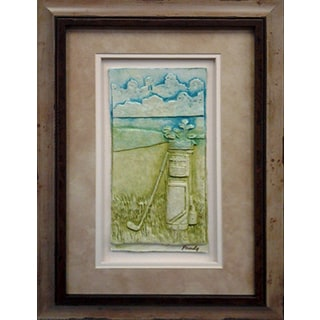 Cast Paper 'Golf Bag' 13x19 Indoor/ Outdoor Framed Art
