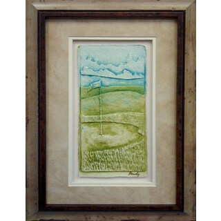 Cast Paper 'Golf Green' 13x19 Indoor/ Outdoor Framed Art