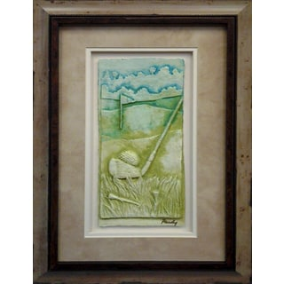 Cast Paper 'Golf Club' 13x19 Indoor/ Outdoor Framed Art
