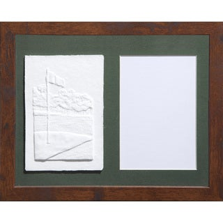 Cast Paper 'Sm. Golf Flag' 9 1/2 x 11 1/2 Indoor/ Outdoor Framed Art