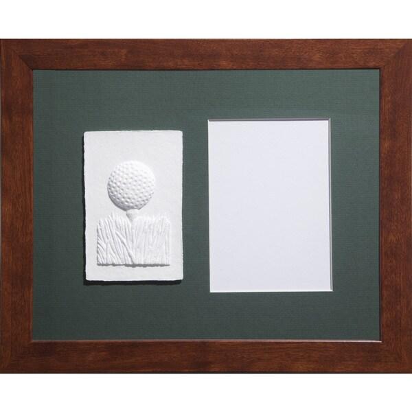 Shop Cast Paper \'Sm. Golf Teeball\' 13x16 Indoor/ Outdoor Framed Art ...
