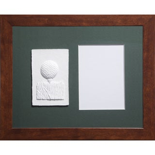 Cast Paper 'Sm. Golf Teeball' 13x16 Indoor/ Outdoor Framed Art