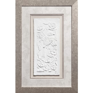 Cast Paper 'Song Bird l' 12x18 Indoor/ Outdoor Framed Art