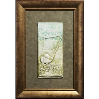 Cast Paper 'Golf Club' 14x20 Indoor/ Outdoor Framed Art