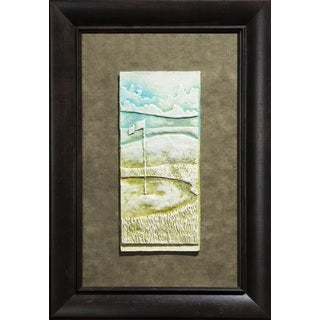 Cast Paper 'Golf Green' 14x20 Indoor/ Outdoor Framed Art