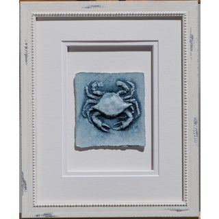 Cast Paper 'Sm. Blue Crab' 9 1/2 x 11 1/2 Indoor/ Outdoor Framed Art