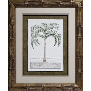 Cast Paper 'Princess Palm' 20x24 Indoor/ Outdoor Framed Art