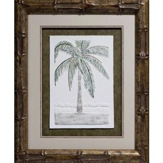 Cast Paper 'Christmas Palm' 20x24 Indoor/ Outdoor Framed Art