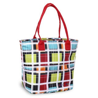 J World Lola Multicolor Polyester Stripe Insulated Lunch Tote Bag
