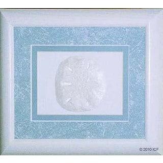 Cast Paper 'Sand Dollar' 10x12 Indoor/ Outdoor Framed Art