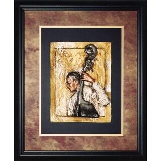 Cast Paper 'Jazz Bass' 24x28 Indoor/ Outdoor Framed Art