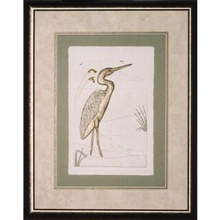 Cast Paper 'Beach Egret' 18x22 Indoor/ Outdoor Framed Art