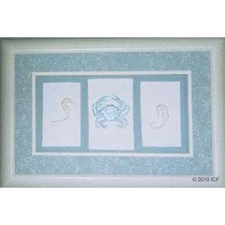 Cast Paper 'Sealife Trio' 12x18 Indoor/ Outdoor Framed Art