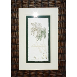 Cast Paper 'Sm. Palms II' 14x20 Indoor/ Outdoor Framed Art