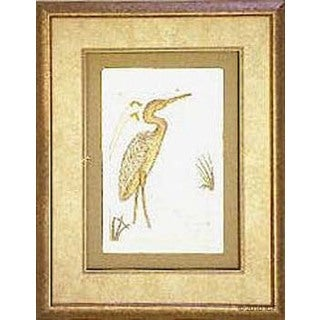 Cast Paper 'Beach Egret' 18x22 Indoor/ Outdoor Framed Art