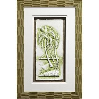 Cast Paper 'Sm. Palms ll' 13x19 Indoor/ Outdoor Framed Art