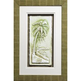 Cast Paper 'Sm. Palms l' 13x19 Indoor/ Outdoor Framed Art